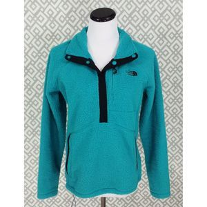 North Face Teal Sheepeater Sherpa Sweater Pullover